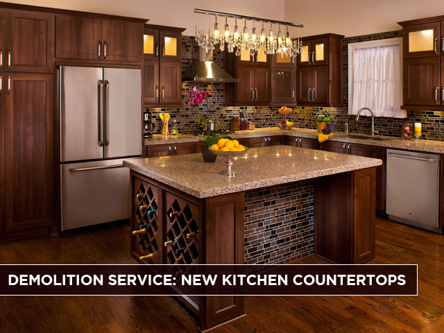 Demolition Service New Kitchen Countertops Abh Services Inc
