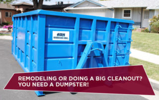 REMODELING OR DOING A BIG CLEANOUT? YOU NEED A DUMPSTER!