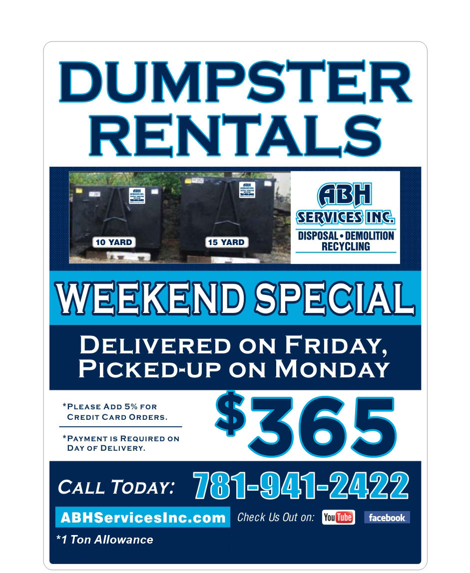 ABH Services Weekend Dumpster Rental Special
